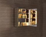高品質のステンレス鋼照らされたLEDミラーの収納キャビネット