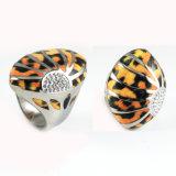 Anello di barretta caldo della stampa del leopardo dell'acciaio inossidabile di vendite di modo