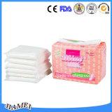 柔らかいDryおよびBreathable Non-Woven Topsheet Sanitary Towels