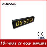 [Ganxin] 회의실을%s 2.3inch 스크린 황색 LED 디지털 표시 장치 시계