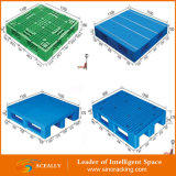 Голубой сверхмощный Stackable пластичный паллет