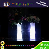 새로운 디자인 고품질 LED 플라스틱 빛을내는 화분