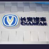 Logotipo de anúncio feito sob encomenda do carro do cromo do diodo emissor de luz