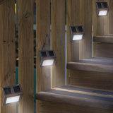 Lámpara montada en la pared accionada solar del jardín del paso de progresión de la cerca de la escalera ligera del camino del LED