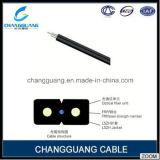 Cintrer-Type câble de fibre optique en plastique de fournisseur de la Chine d'éclairage d'intérieur du câble fibre optique GJXFH/Gjxh de baisse