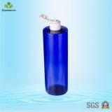 Frasco plástico azul da loção 500ml para a lavagem do banho