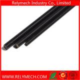 L'acier du carbone Rod fileté gauche, vis sans fin gauche avec noircissent le traitement