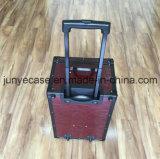 車輪が付いているアルミニウム荷物の箱