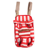 Legs前でStyle Pet Dog Cat Canvas Stripe Double Shoulder Dog Backpack Carrier Bag