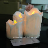 Cores Option Flickering Pillar Candle com 2 Keys Remote Control