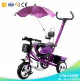 Трицикл младенца детей новой модели дешевый пластичный для трицикла малышей малышей/детей младенца типа автомобиля и силы езды или нажима