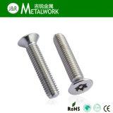 Cacerola del acero inoxidable/botón Torx/tornillo principal avellanado de la seguridad con el Pin de centro