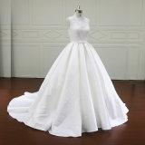 Jolie robe de mariage de robe de bille de Mikado d'amoureux d'arrivée neuve