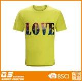 Camiseta de secado rápido de la moda de la impresión de los hombres
