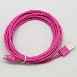cabo colorido do USB do micro da espessura de 2m 3m para Samsung