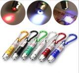 산 Climing 훅 Laser 포인터 LED 레이저 광 Keychain를 가진 LED UV 빛 Keychain