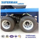 半ボギー式車軸の貨物のための頑丈な平面容器のトラックのトレーラー