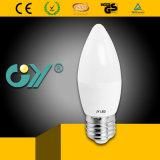EMC를 가진 6000k 3W E27 E14 C37 LED 초 빛