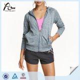 여자 스포츠 Hoodie 도매 보통 가득 차있는 Zip 체조 스웨트 셔츠 Hoody