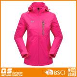 Зима женщин цветастая греет 3 в 1 куртке