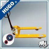 Manuelles hydraulisches Gabelstapler-Handladeplatten-LKW PU-Rad auf Verkaufs-konkurrenzfähigem Preis