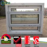 UPVC/PVC Venster van het Glas van het effect het Enige Gehangen