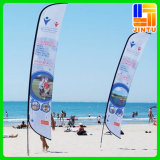 カスタムPrinting Outdoor Advertizing Polyester Feather Flag、ポーランド人とのTeardrop Beach Flag