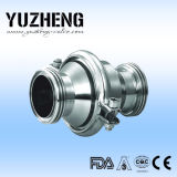 Válvula de verificación sanitaria de la estructura del resorte de Yuzheng Dn100