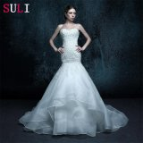 Sweetheart Real Photo Appliques Wedding Dress (ZXB-4)