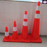 Solid OrangeおよびWhite適用範囲が広いPVC Road Traffic Safety Cone