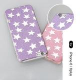 Tampa protetora cheia do telefone macio Shining cor-de-rosa da estrela TPU para o iPhone 6/6s