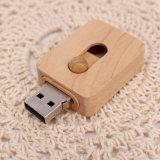 Mecanismo impulsor de madera liso del flash del USB de la promoción (UL-W015)