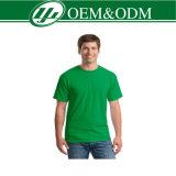 Camiseta redonda 100% del blanco del cuello del algodón del llano