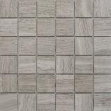 Qualität zog Bauholz-weißer Marmor poliertes Mosaik ab
