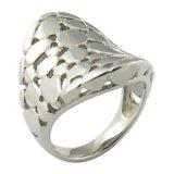 La insignia de encargo mantiene el anillo del acero inoxidable