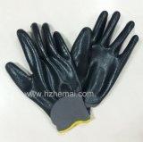 Völlig überzogener Sicherheits-Nitril-Schaum-Handschuh-Sicherheits-Arbeits-Handschuh