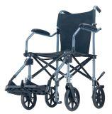 Cadeira de rodas de pouco peso portátil do transporte de Topmedi com caixa do trole