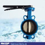 Выровнянная резиной клапан-бабочка вафли Ss/CS/Pn16/Pn10/150lb API/DIN/dB/JIS