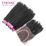 ClosureのブラジルのKinky Curly Virgin Hair
