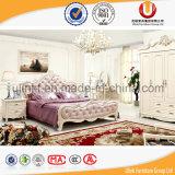 현대 디자인 미국식 가죽 침실 세트 침대 (UL-FT613)