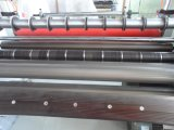 Étiquette tissée de bonne exécution stratifiant fendant la machine de rebobinage