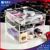 3 rangées vendent l'organisateur acrylique de renivellement avec le tiroir
