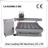 Máquina de trabajo de madera del CNC del eje multi de la pista 4 para la venta