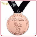 A presión la medalla plateada bronce antiguo del recuerdo de la fundición
