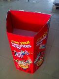 Cardbaord de papier en gros annonçant la boîte de présentoir de poubelle