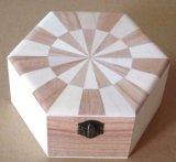 Conjunto del rectángulo de joyería del rectángulo de madera