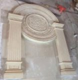 Sculpture en grès de mantel de cheminée de bordure de résine
