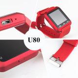 Appareil-photo intelligent androïde de téléphone de montre de la montre U8 U80 Bluetooth de téléphone mobile (ELTSSBJ-18-6)
