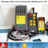 El control de radio Xj-C6s del alzamiento escoge el interruptor teledirigido de la grúa de la velocidad