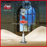 Rainproof Rouge-House Christmas Snowing Streetlamp avec Music 180cm